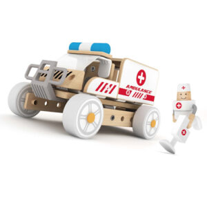 Wooden 3-In-1 ambulance