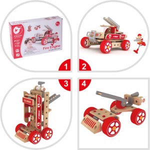 Wooden 3-In-1 fire engine