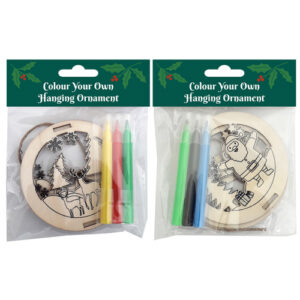 Wooden Colour In Christmas Ornament