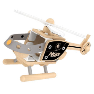 Wooden DIY Police helicopter