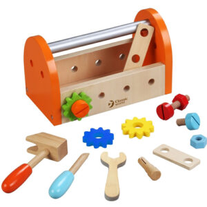 Wooden Small Carpenter Toolbox 16 Pieces