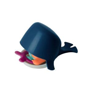 chomp hungry whale navy bath toy