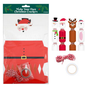 make your own christmas crackers 4pc